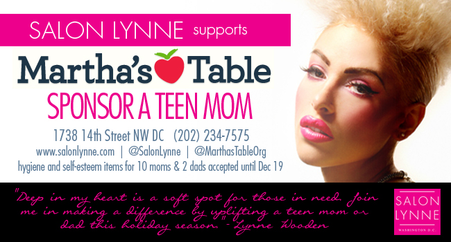 Salon Lynne supports Martha's Table | Washington, DC