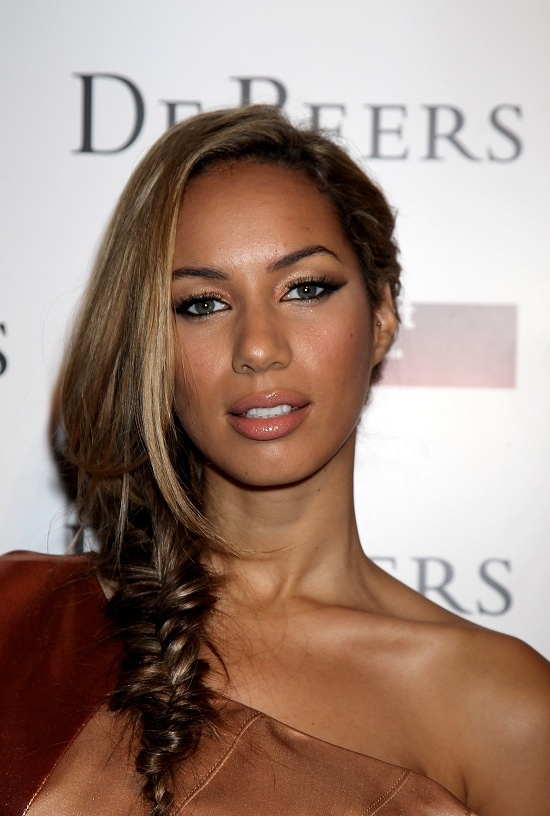 leona lewis side braid